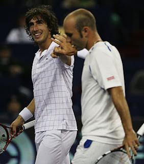 Cuevas y Horna en la Tennis Masters Cup 2008
