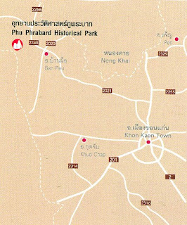 Phu Phrabard Map at thailand-mountains.blogspot.com