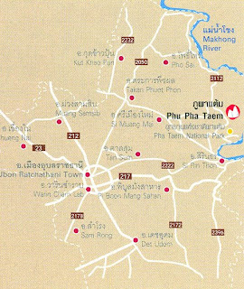 Phu Pha Taem Map at thailand-mountains.blogspot.com