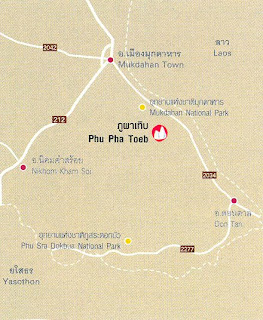Phu Pha Toeb Map at thailand-mountains.blogspot.com