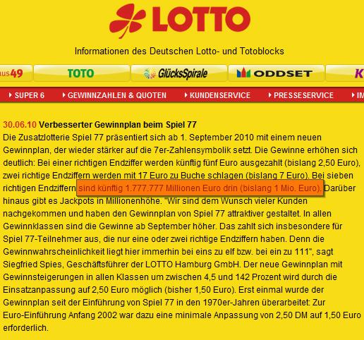 Billionengewinn beim Lotto?