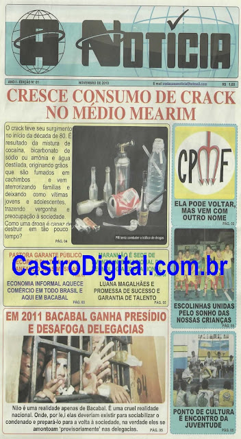 IMAGEM - Capa da 1º edição do Jornal A Notícia