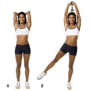 Un entraînement complet avec des mouvements à domicile-leg extension triceps