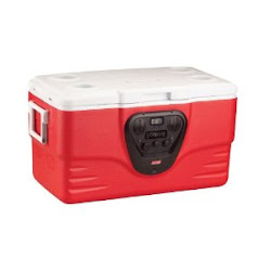 Coleman 36-Qt. Electronic Cooler with Radio & Clock