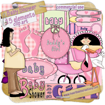 Baby Shower - Clip Art Commercial Use You can get these kits in sale now