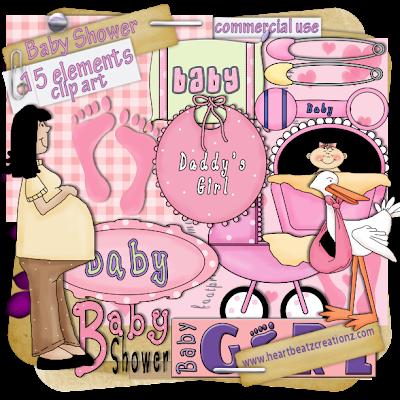 Baby Shower - Clip Art