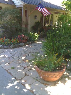 dry-laid flagstone path