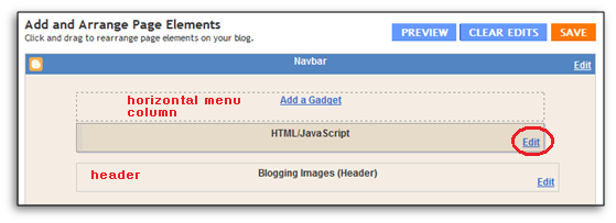 bloglayout page element