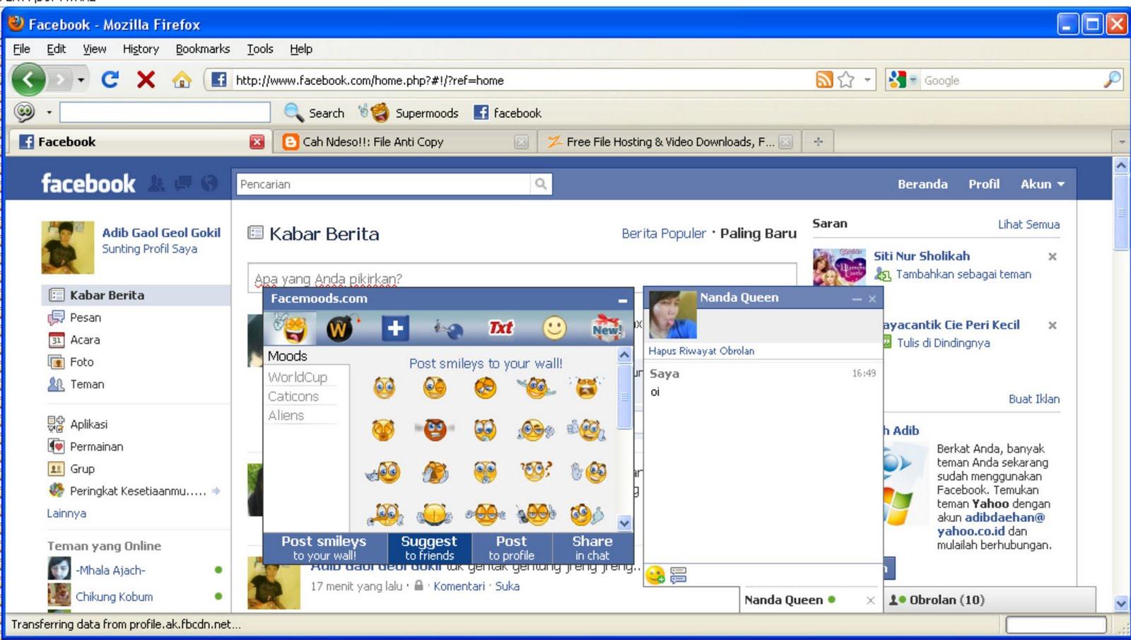 Facemood buat Facebook