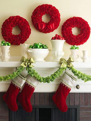 christmas+mantel+bhg4 holiday mantel inspiration