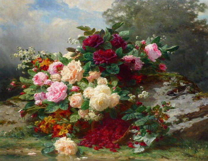 Jean_Baptiste_Robie__Autumn_roses_ dans Mon Archange Protecteur