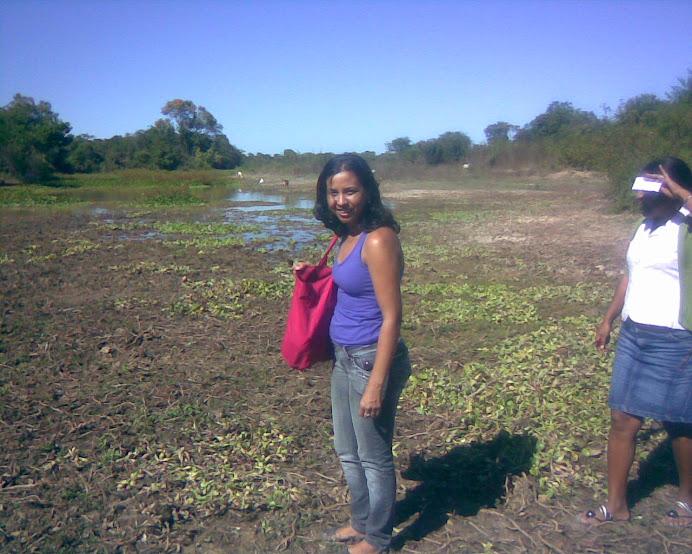 Professora Luciana, no passeio ecológico