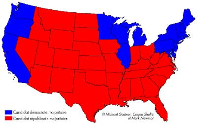 G ographie de la ville en guerre blog les lections pr sidentielles des etats unis en cartes - Election presidentielle etats unis ...