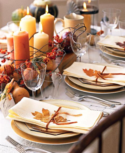 modern vintage coastal: fall tablescapes just in time for