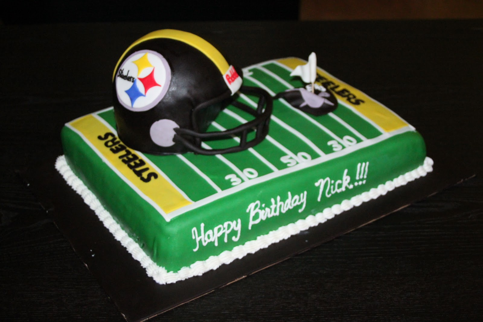 steelers birthday cake football cakes http www cake decorating