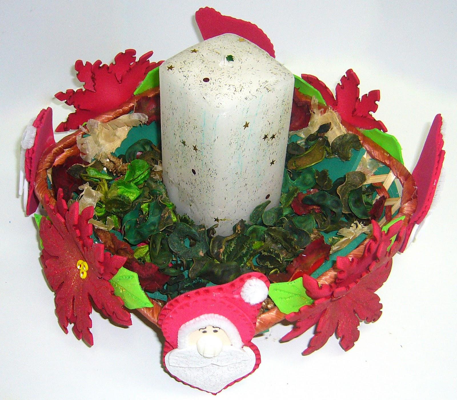 Amigos del foamy una cesta para navidad for Cesta arbol navidad