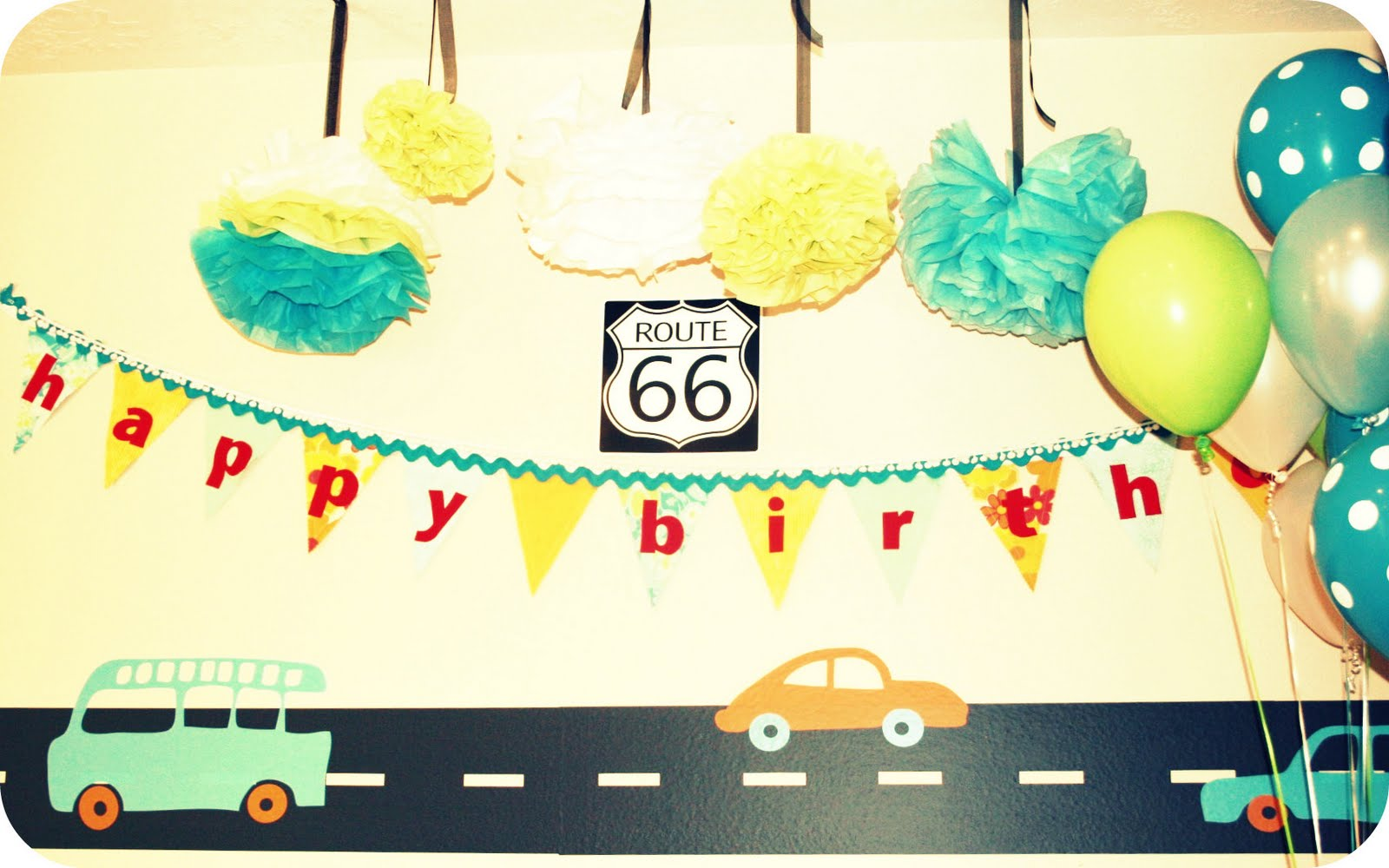 Vintage Car Themed Birthday Party