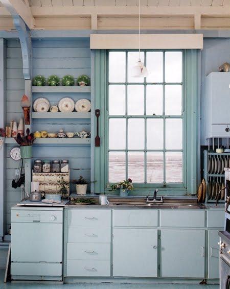 Broken stitch blog imperfect beautiful beach house kitchen for Beach cottage kitchen cabinets