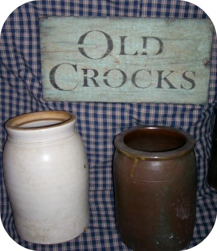 "OLD CROCKS SIGN $8.00  6""X18"""