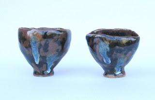 Temmoku-with-blue-Guinomi-or-tea-bowl