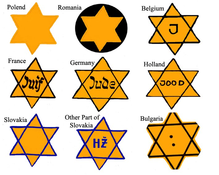 Yellow+jewish+star+holocaust