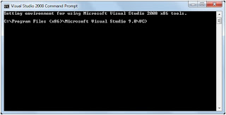 Visual Studio 2008 Command Prompt
