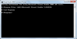 Go from one Directory to another from command Prompt