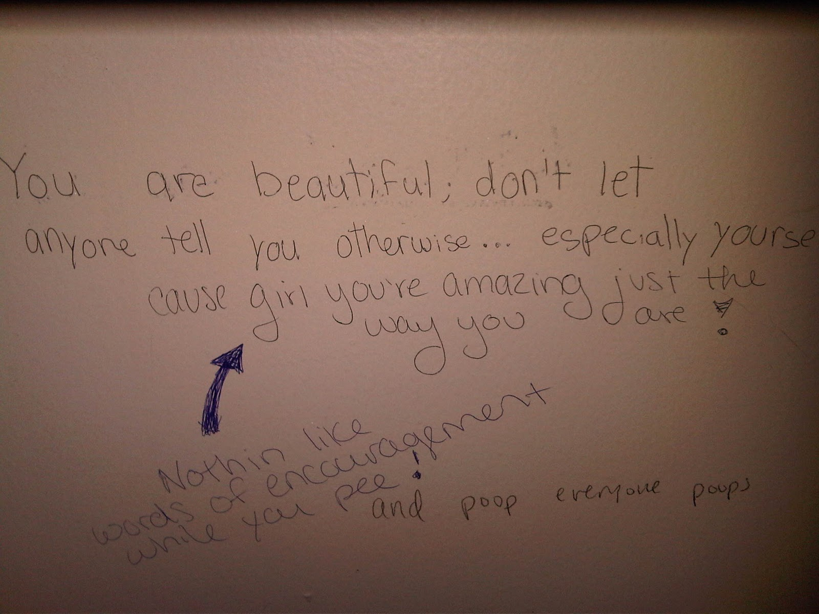 I Tend To Not Feel My Most Beautiful While In A Bathroom Stall The Library So This Author Really Understood When Capture Her Audience