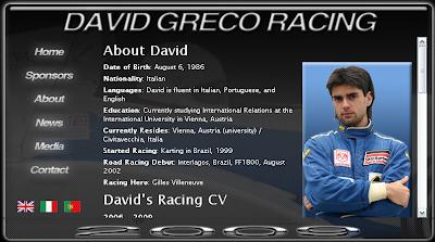 Web David Greco corredor F1 rFactor