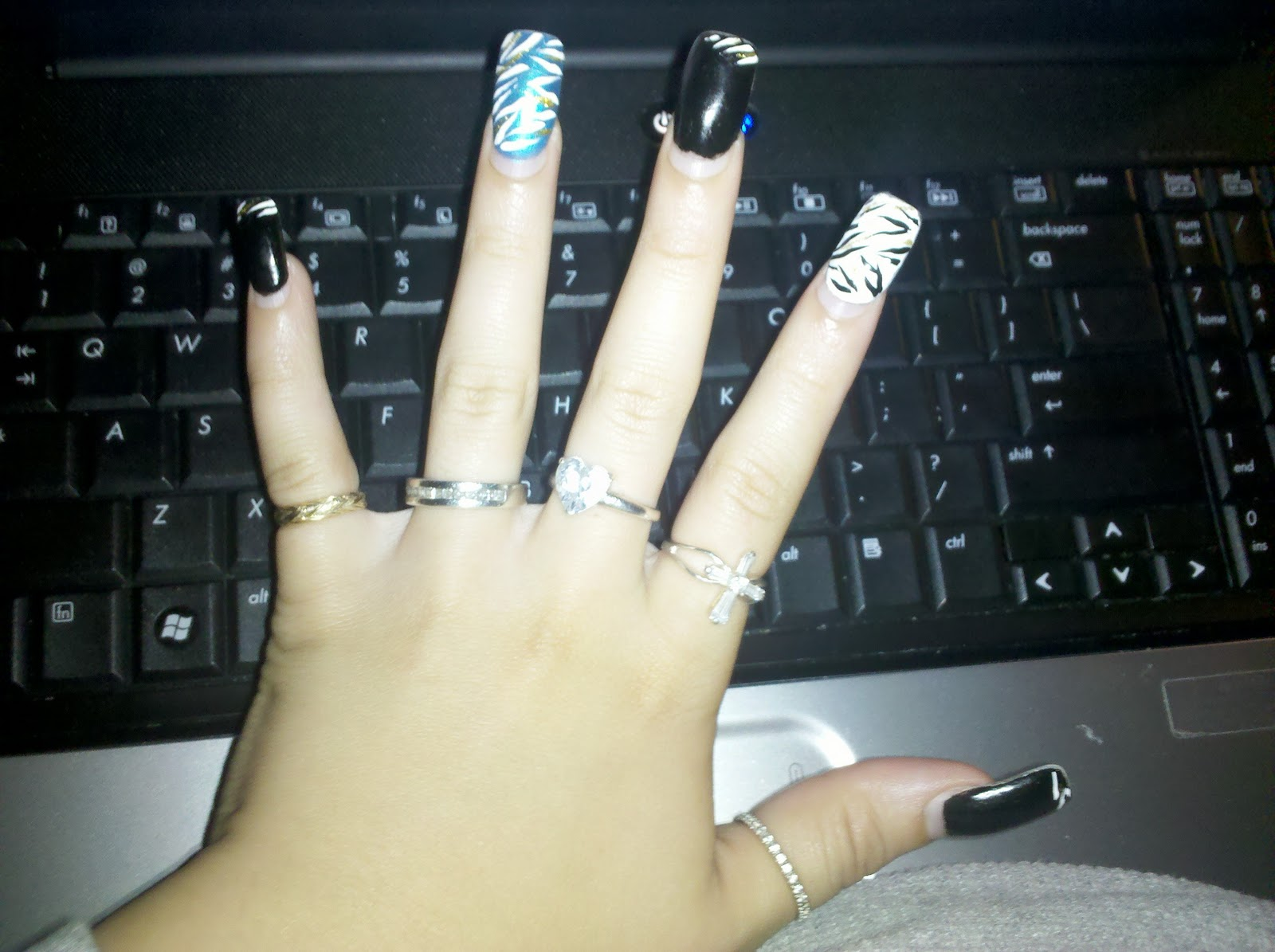 Im Just Fancy Babe :): Fancy Nails, Zebra Print May You Ask :)