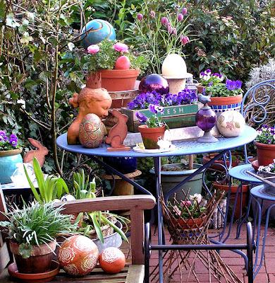 elemente de decor ceramica si sticla diverse plante