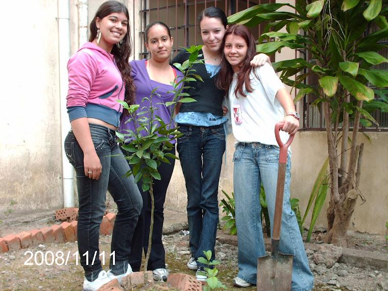 Alunas Débora, Bruna, Larissa e Ilara da turma 201 do Ruy Coelho