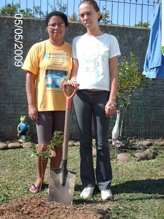 Uma pitangueira plantada na casa da aluna Cristiane Pereira.