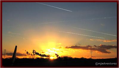 Jet trails over Berlin