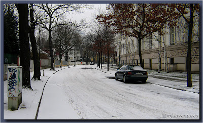 Mansfelder Strasse under snow