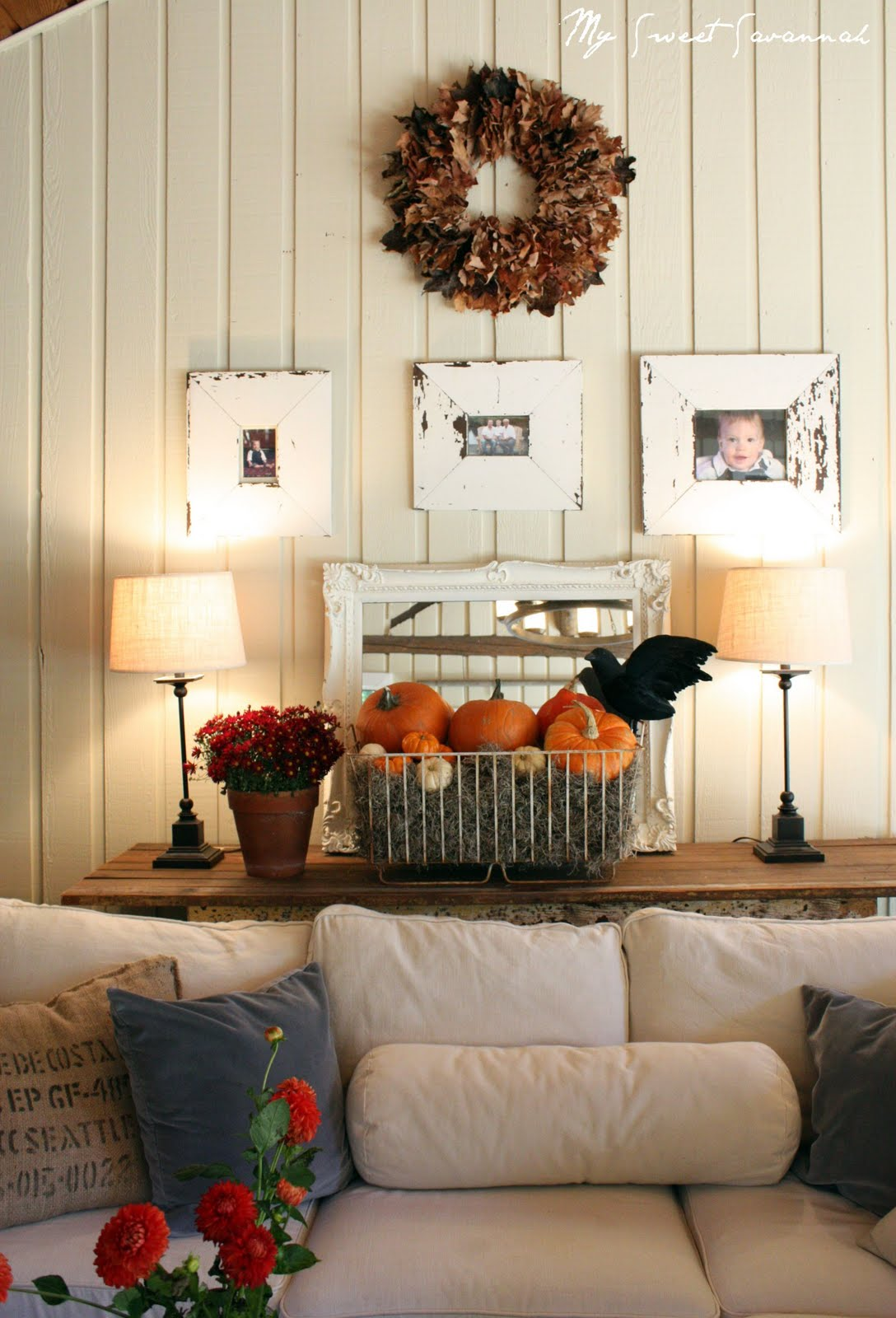 my sweet savannah decorating for fall with natural elements