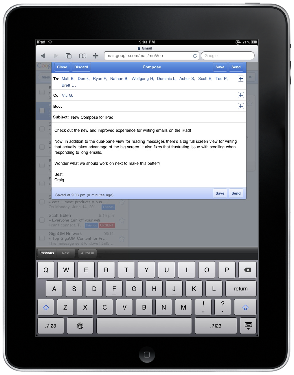 New compose interface for gmail on ipad official google mobile blog