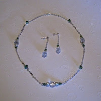 Sterling Silver and Swarovski Crystal necklace and earrings
