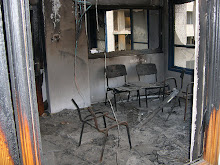 Burnt out Hamas offices