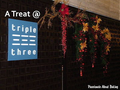 Treat at Triple Three | Passionate About Baking