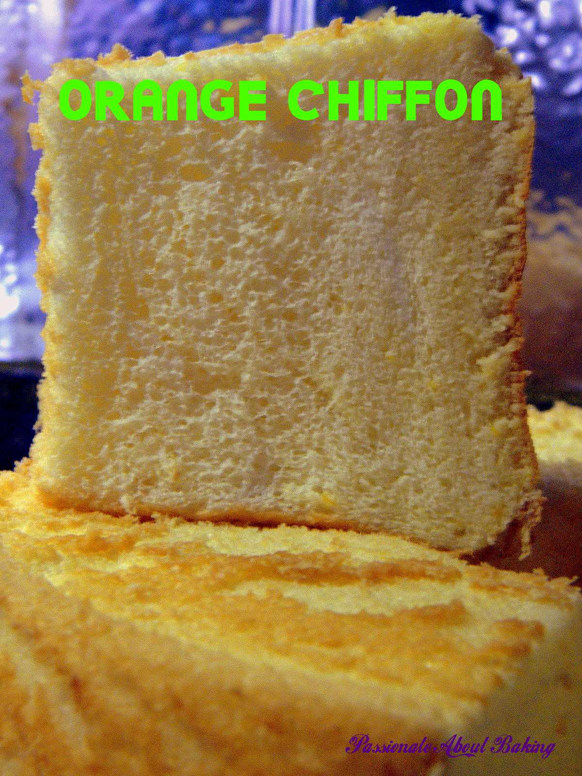 Grand Marnier Orange Chiffon Cake Recipe