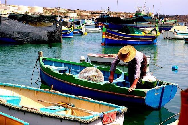 Villa de pescadores.Marsaxlokk