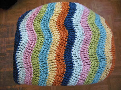 The Naked Knitters: Ripple Blanket - Crochet!
