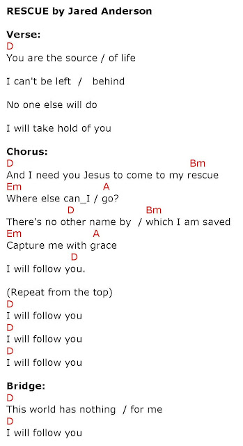 RESCUE (I NEED YOU JESUS) - lyrics and chords ~ Faith and Music