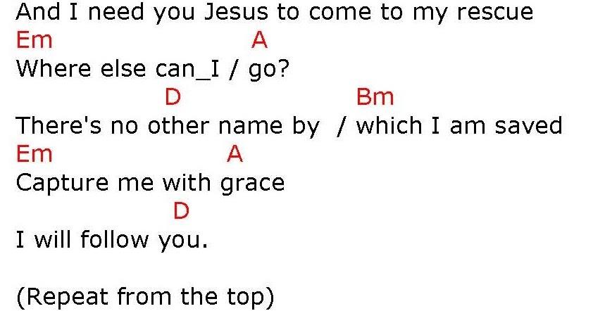 RESCUE (I NEED YOU JESUS) - lyrics and chords ~ Faith and Music
