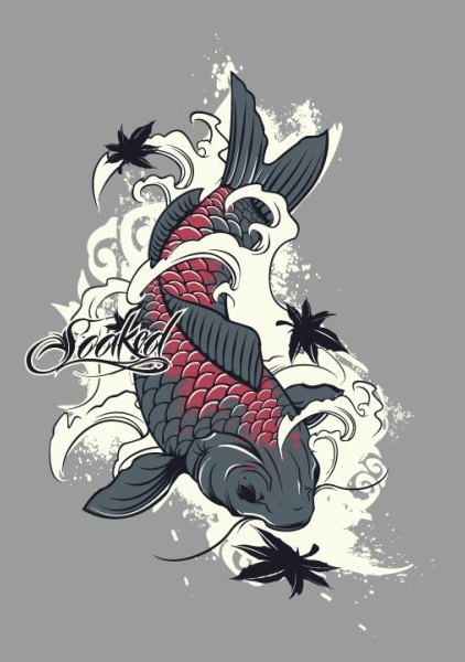 Koi Fish by UVSoaked