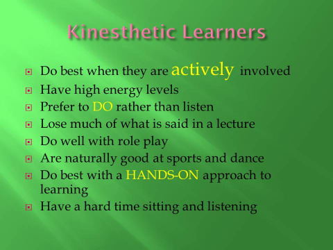 Activities to Improve Articulation in Kinesthetic Learners