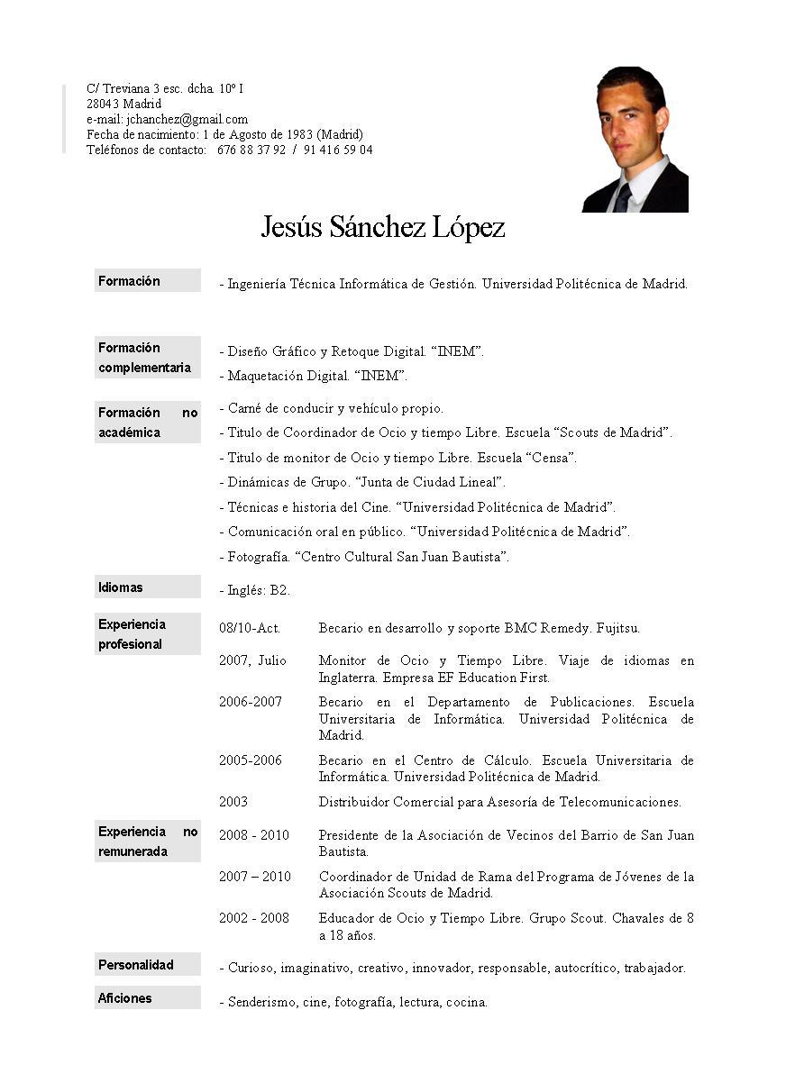 jchanchez: Carta de Presentación y Curriculum
