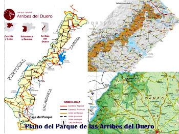 Plano del Parque Natural de Las Arribes del Duero