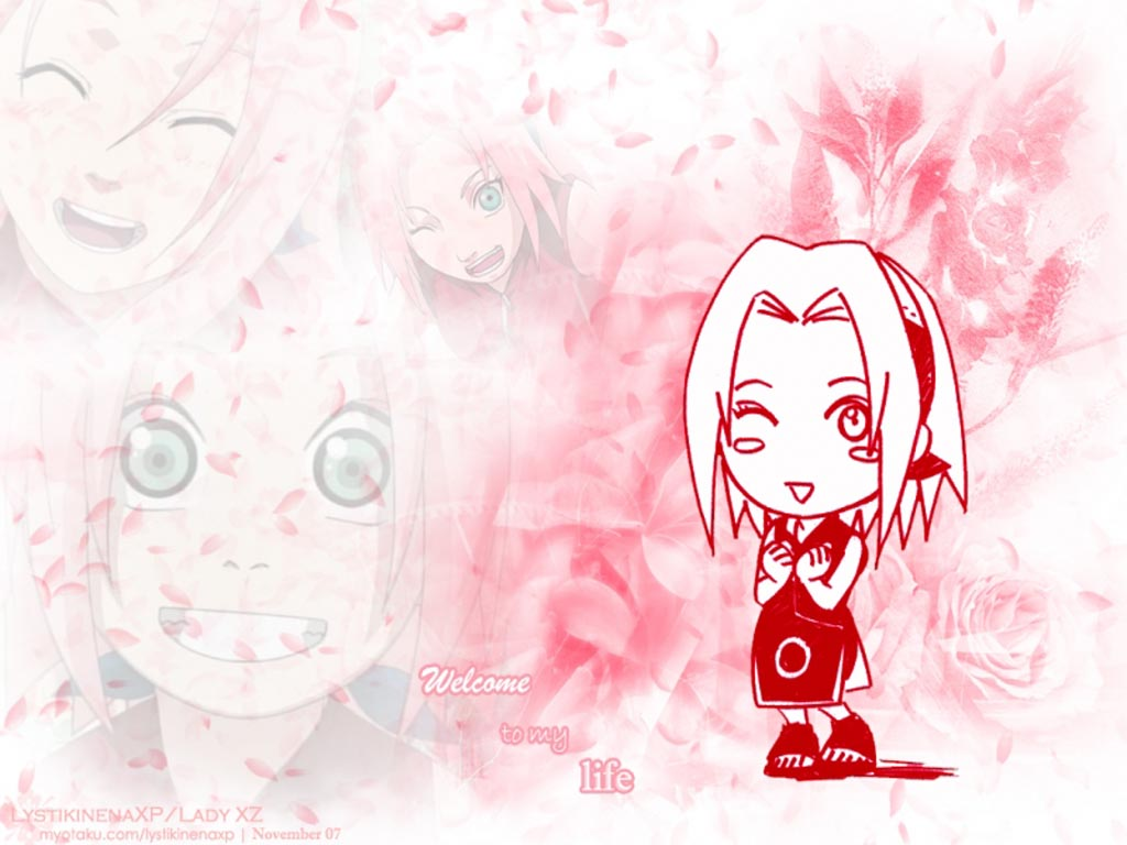 Top Cartoon Wallpapers: Sakura Haruno Anime Wallpaper